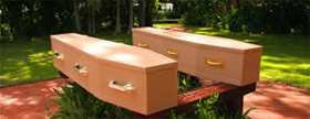 Plain Cardboard coffin range