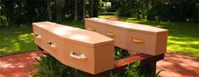 Plain Cardboard coffin range